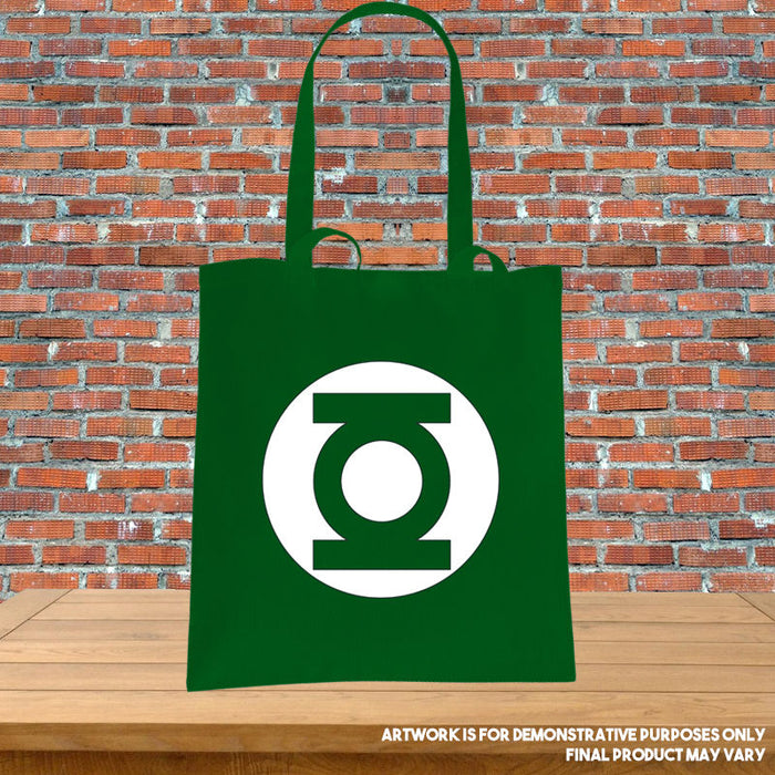 Printed Tote Bag - Green Lantern Corp Symbol Inspired