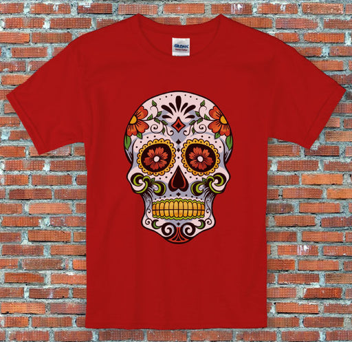 Candy Skull Day of the Dead Halloween Sugar Skull S to 2XL