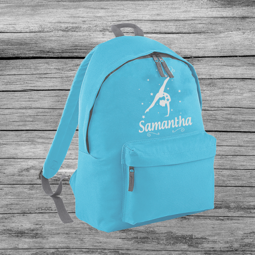 Personalised Gymnastic Girl's Adjustable Custom Backpack Rucksack Bag 3 Colours