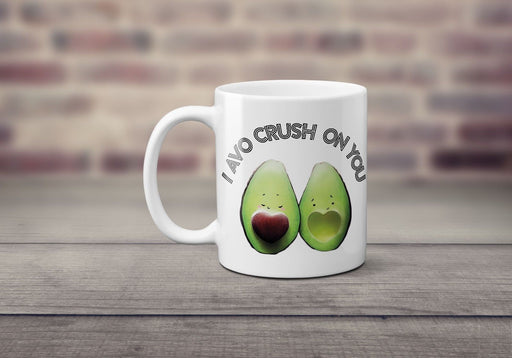 I avo crush on you cute valentines love avocado other half gift printed cup mug