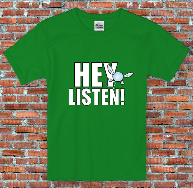 Hey Listen Legend of Zelda Navi Ocarina Time Inspired T Shirt S to 2XL