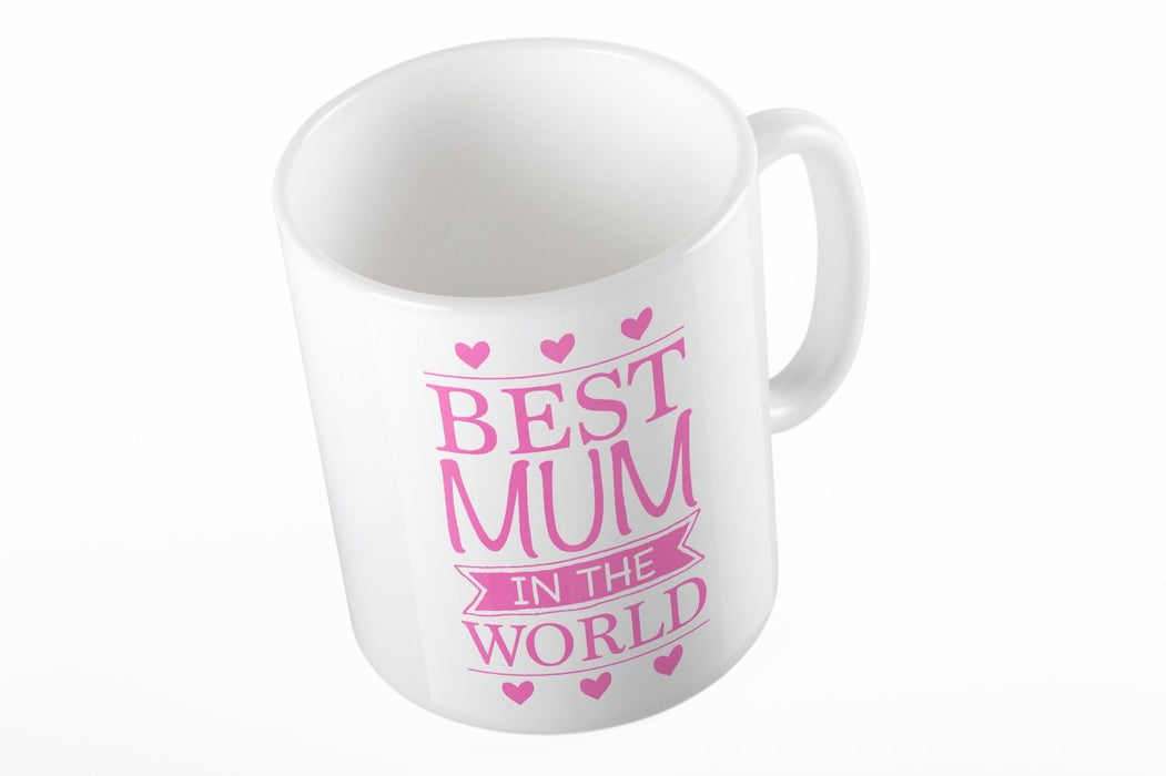 Best Mum in the World Mother's day Gift Pink printed mug