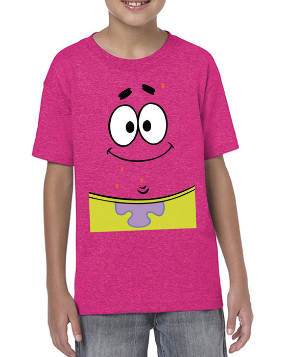 [ Kids ] Patrick Face Squarepants Starfish Cartoon Inspired Kids T-Shirt.