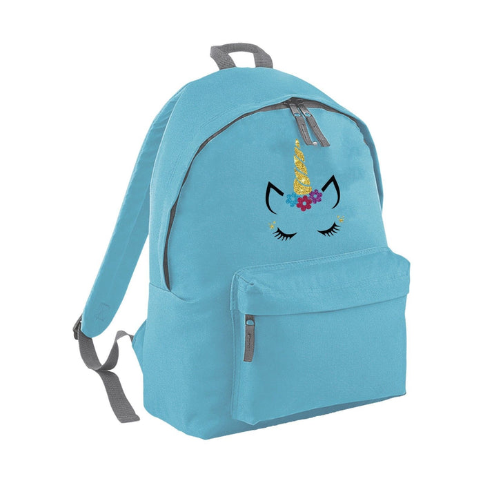 Glitter Unicorn Face Backpack - Kids & Adults - Funny - Cute Glitter Sparkling