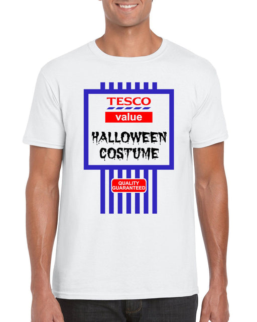 """Tesco's Value Halloween Costume "" Spoof Halloween Themed T Shirt"