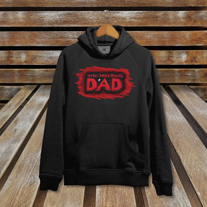 The Walking Dad - The Walking Dead Parody Black Hoodie TV Show Video Game Jumper