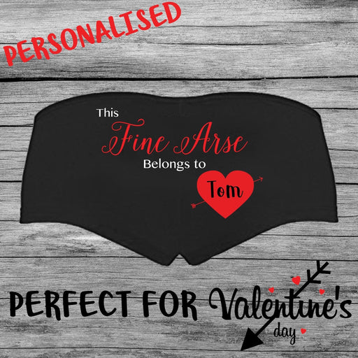Valentines Day Fine Arse Gift Womens Personalised Printed Hot Pants
