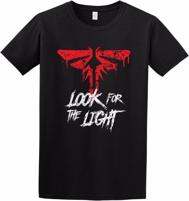 """ Look for the Light "" Fireflies Symbol Ellie Last of Us Game Inspired T-shirt"