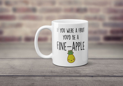 Fine-apple cute fruit funny novelty couple valentines love gift printed cup mug