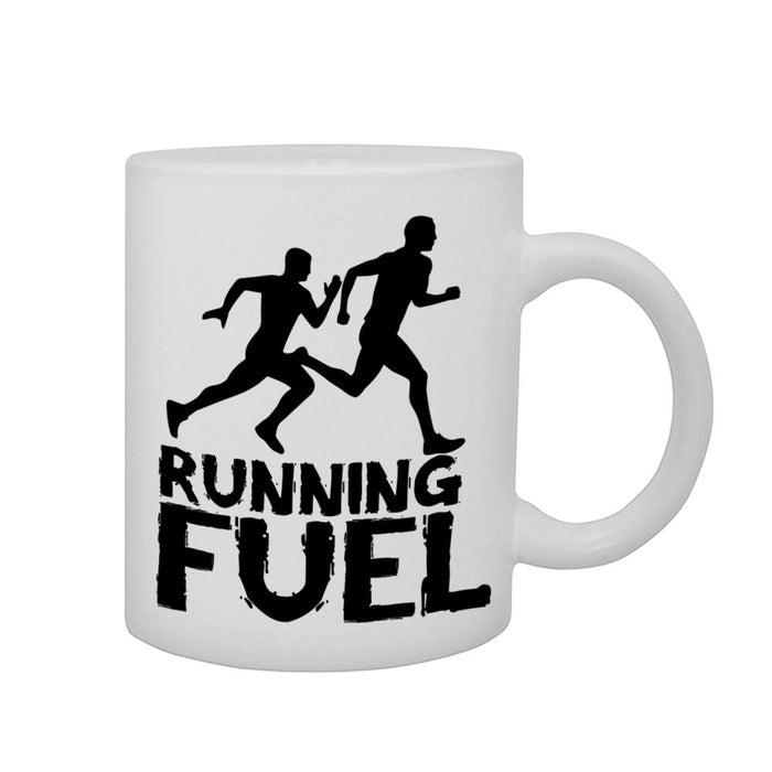 Running Fuel Sports Atheltic Fitness Hobby Gift Graphic Printed Mug