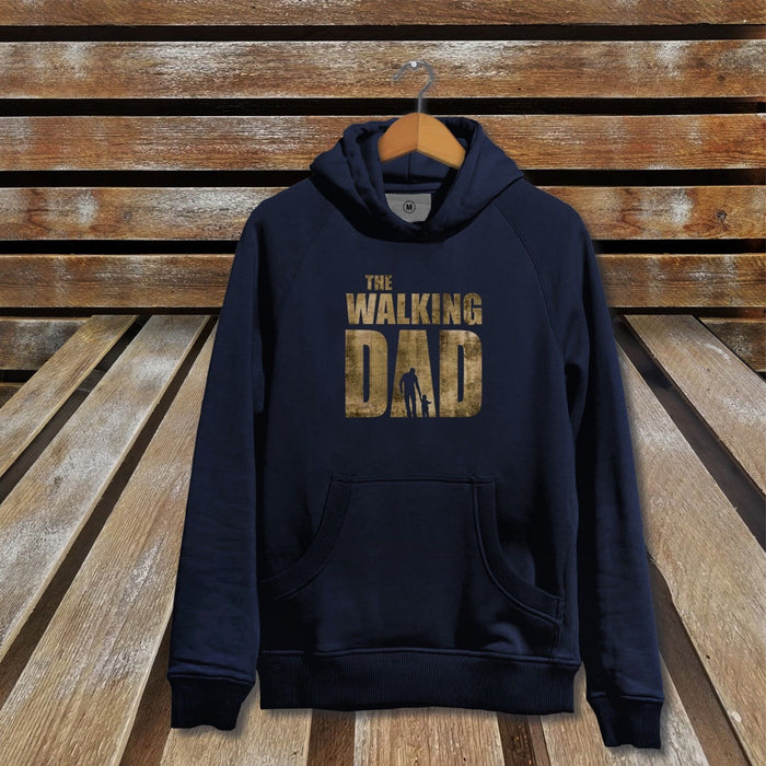 The Walking Dad Navy Hoodie - The Walking Dead Parody TV Show Video Game Gift