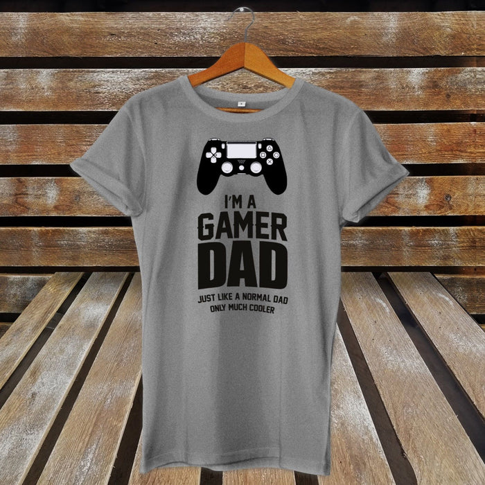 "Gamer Dad ""Just like a normal dad only much cooler"" T-Shirt Men Boys"