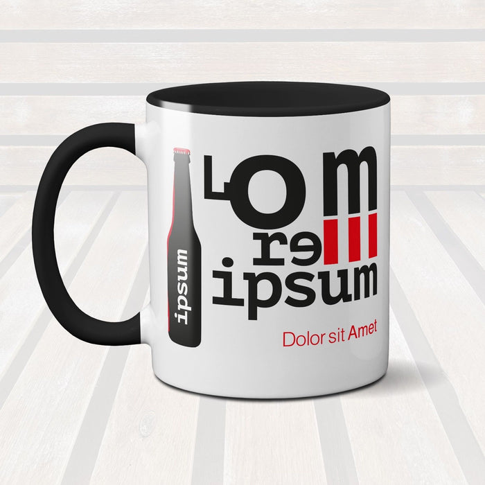 Lorem Ipsum Graphic Design Inspired Novelty Ceramic Mug Coffee Cup Gift Present