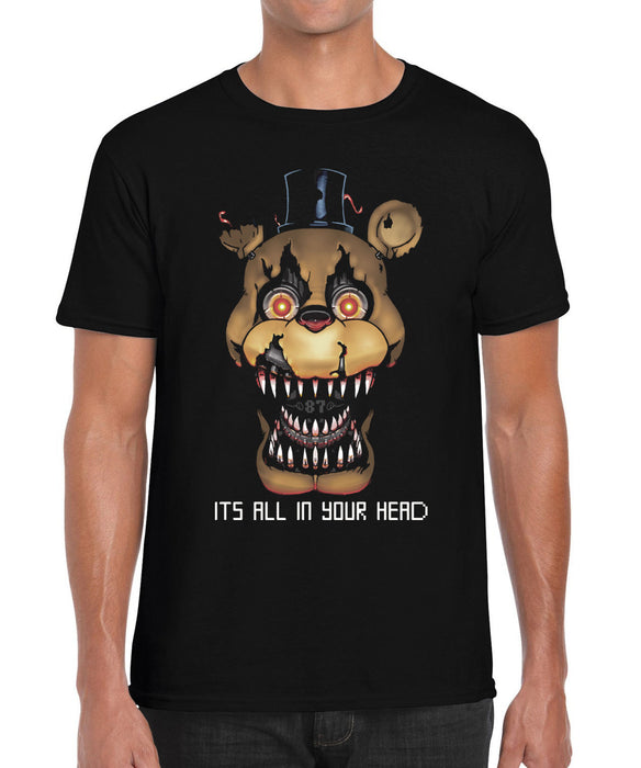 The Bite of '87 1987 FNAF Nightmare Freddy Five Parody Inspired Graphic T Shirt