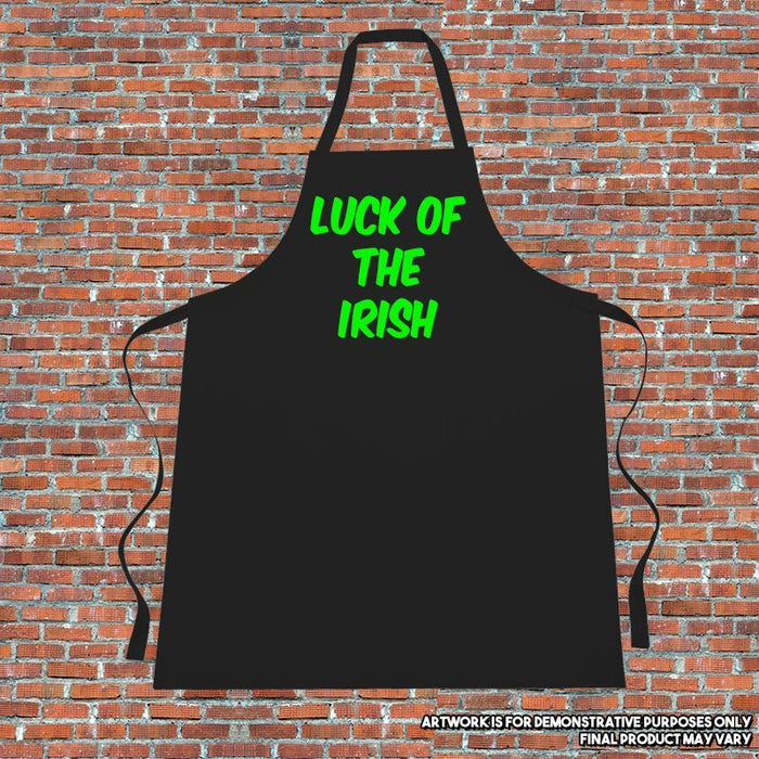 """LUCK OF THE IRISH "" Apron. Cooking. Kitchen.ST-PATRICK-DAY.GREEN"