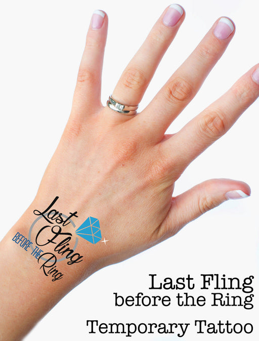 Last Fling before the Ring Premium Hen Do Temporary Tattoos Choose your Quantity
