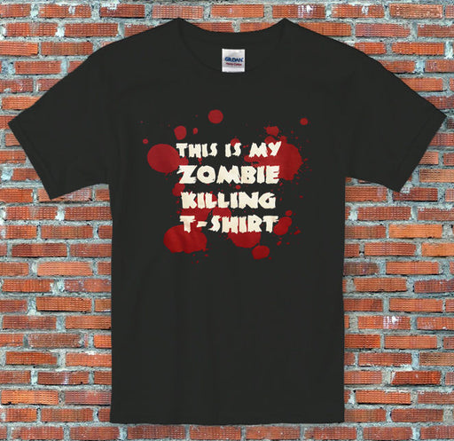 """This is my Zombie Killing Shirt"" Bloody Halloween Themed T Shirt S to 2XL"