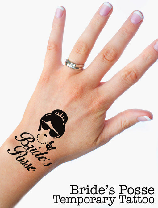 Bride's Posse Funny Premium Hen Do Temporary Tattoos Choose your Quantity