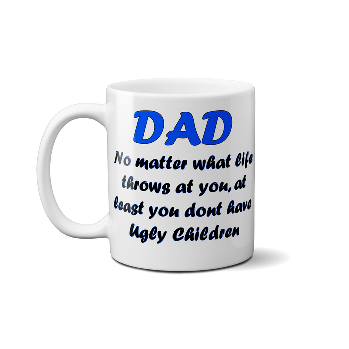 Cute Meaningful Father's Day 10/11 Oz Ceramic Mug / Coffee Cup For Stepdad