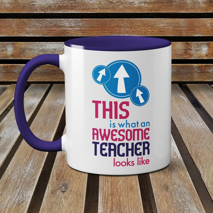 This is What an Awesome Teacher Looks Like Novelty Gift Mug 2018 Coffee Tea Cup