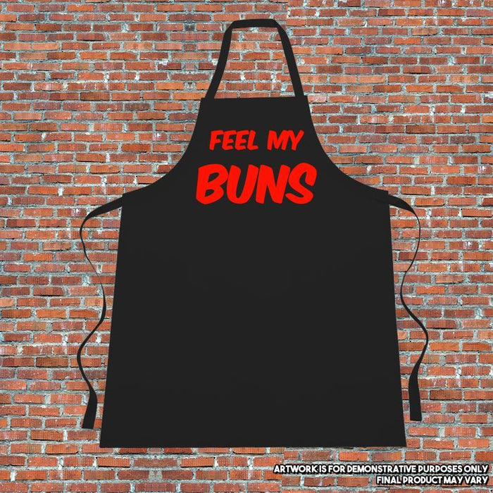 """FEEL MY BUNS"" Apron. Cooking. Kitchen.Naughty"