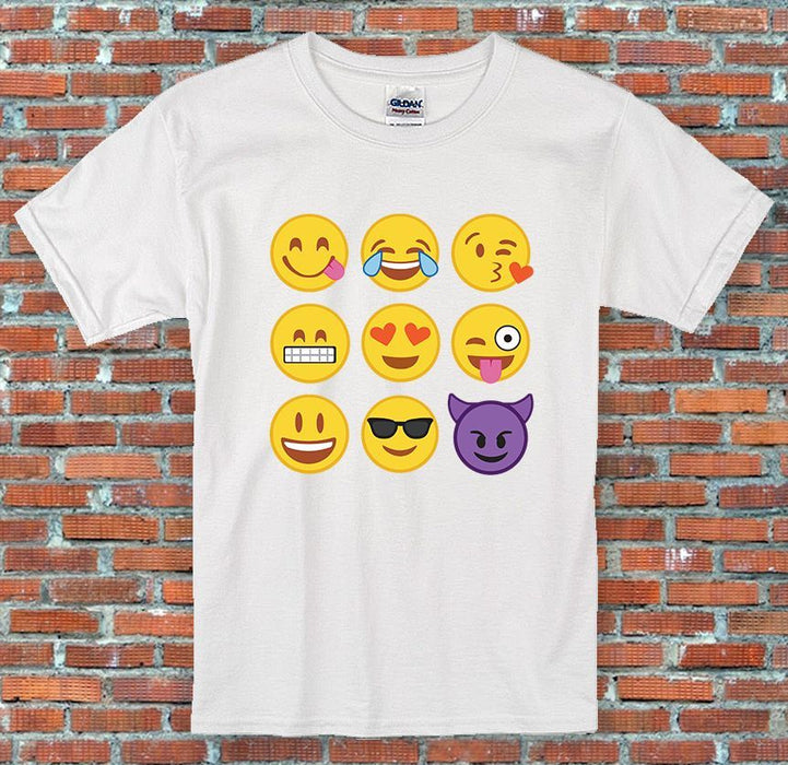 Emoji Face Stack Messenger Facebook Instagram Inspired Unisex T-Shirt S-2XL