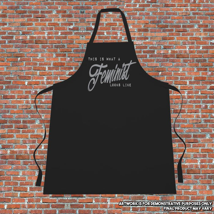 """This is what a feminist looks like"" Apron. Cooking. Kitchen.Retro.Quote"