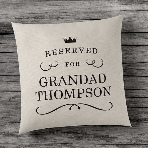 "Personalised ""Reserved for..."" Cushion Cover - Cute Novelty Gift Present - Home"