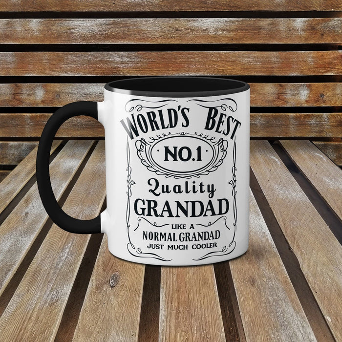 Fathers Day Cute Novelty Mug  - Jack Daniels World's Best Grandad
