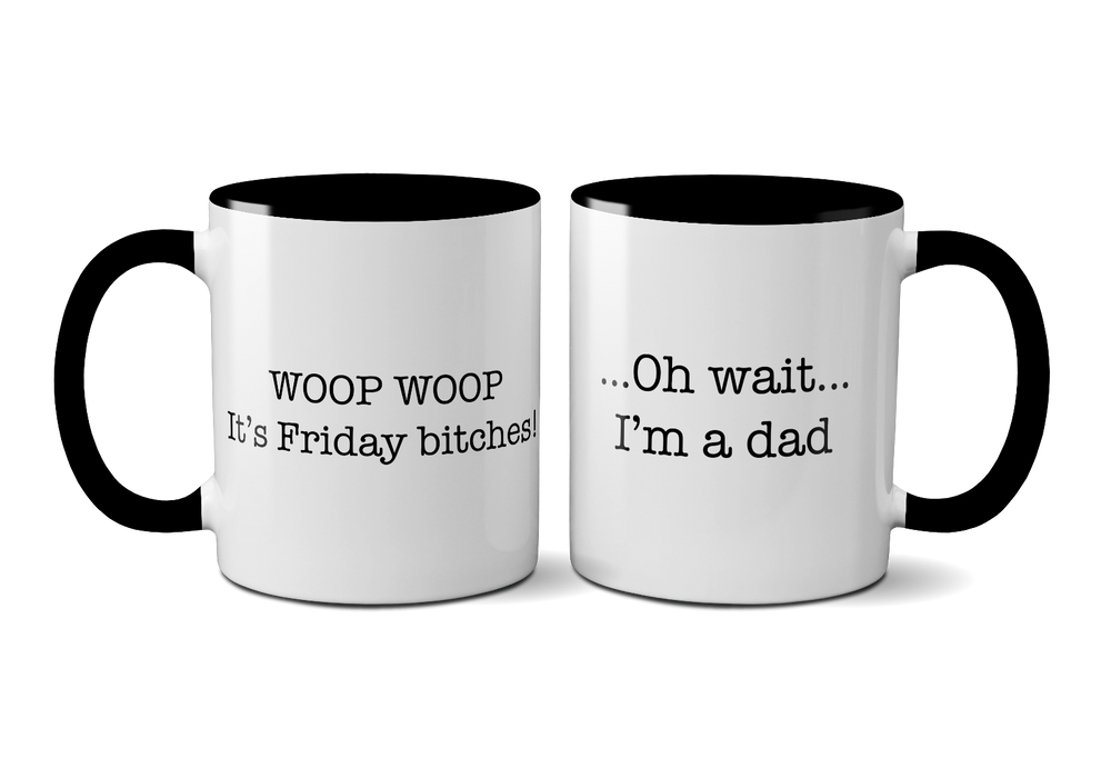 "Novelty Funny ""It's Friday"" Father's Day Mug / Coffee Cup, Perfect Gift Present"