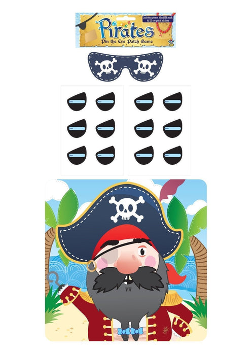 Stick The Eye Patch On The Pirate Game - Party Children's Kids Pin Tail Activity