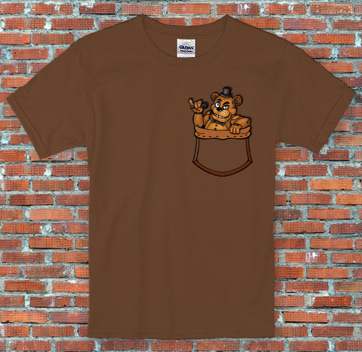 Freddy in my Pocket FNAF Five Nights Animatronic Inspired T Shirt S M L XL 2XL