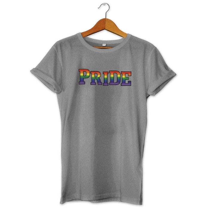 Pride Paillette Inspired Halftone Printed T-shirt - Rainbow Colours - Gay Pride
