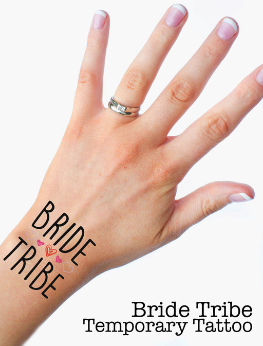 Bride Tribe Funny Premium Hen Do Temporary Tattoos Choose your Quantity