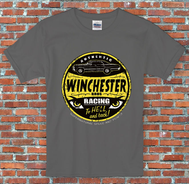 Winchester Bros Racing Supernatural Inspired T Shirt S M L XL 2XL