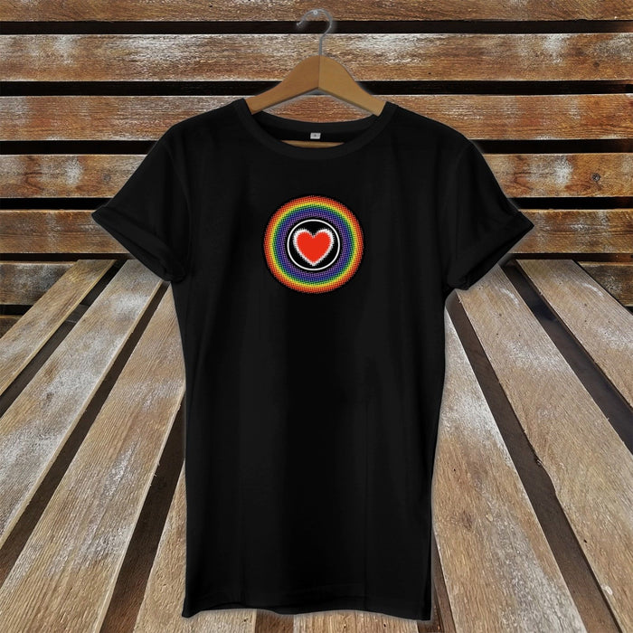 Rainbow Heart T-Shirt - LGBT - Gay Pride - Proud Pride Chest Top