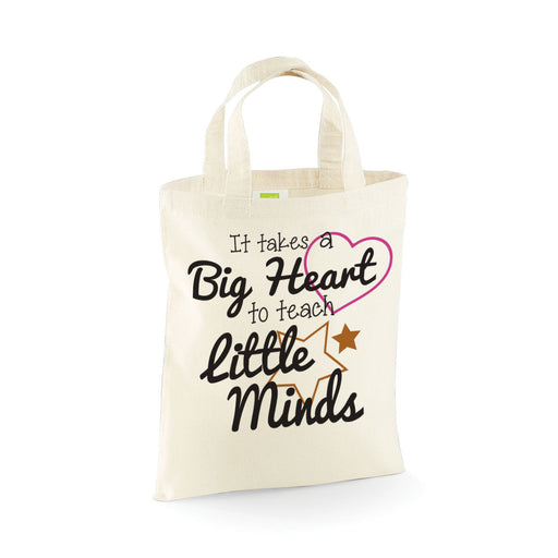 Big Heart Little Minds Leavers School Present End of Year Present Mini Tote Bag