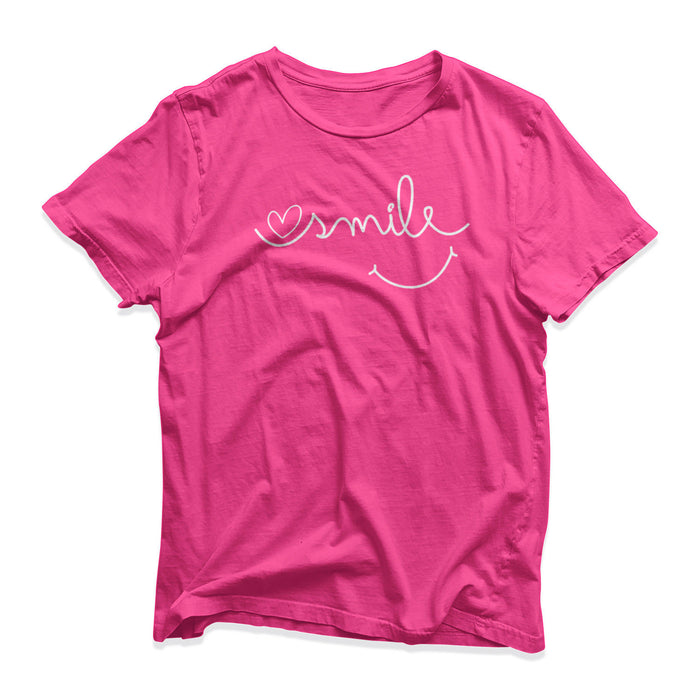 Smiling Smiley T-Shirt - Funny Novelty - Gift Present - Happy Cheerful Birthday