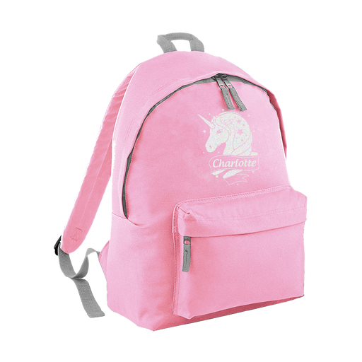 Personalised Custom Girl Child's Unicorn Designed School Backpack Bag Rucksack
