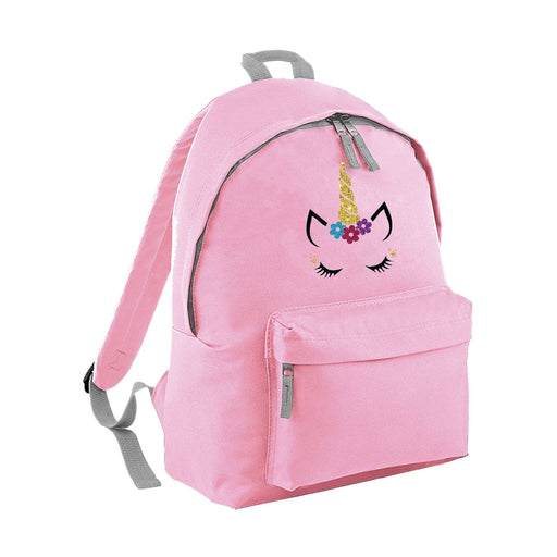 Glitter Unicorn Face Backpack