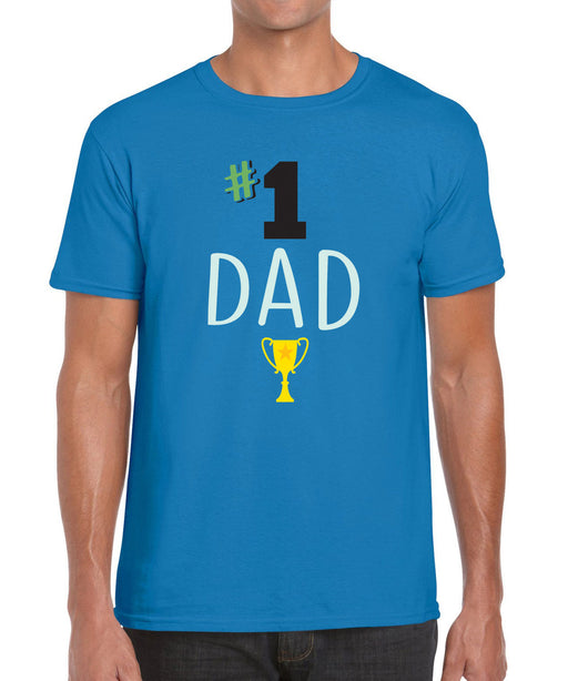 Number #1 Dad Father Fathers Day Printed Gift Graphic T Shirt