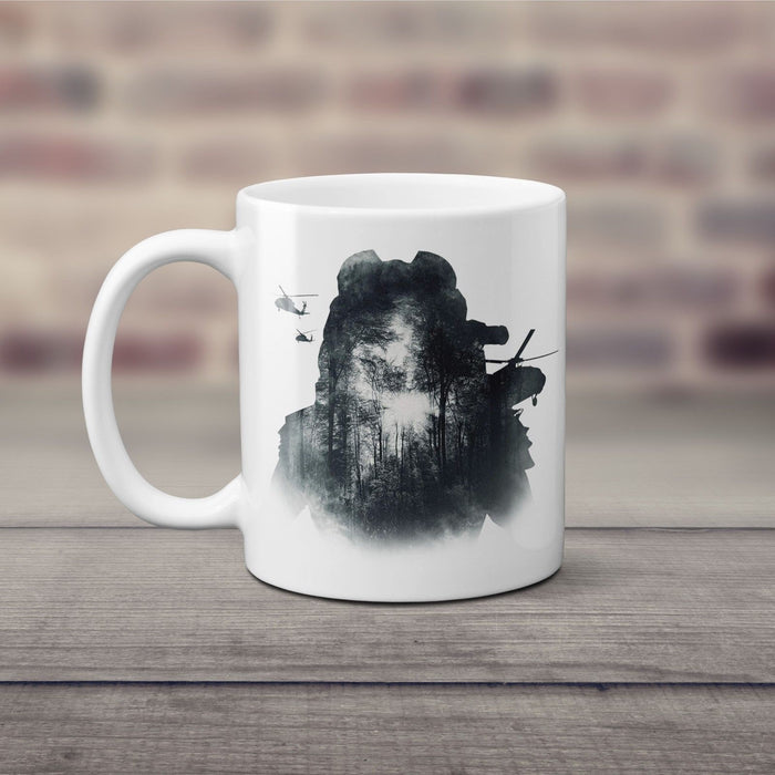 The Predator 2018 IMAX Movie Military Face Ceramic 11 Oz Mug Coffee Cup - White