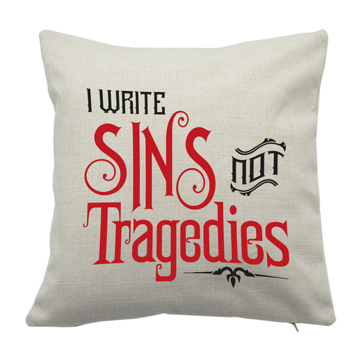 """I Write Sins Not Tragedies"" Panic at the Disco Song Music Inspire Cushion Cover"