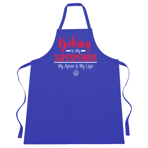 Baking is my superpower my apron is my cape funny slogan cooking baking kitchen