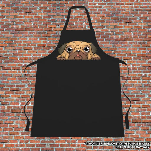 """Lazy Pug"" Apron. Cooking. Kitchen.Retro.Pug"