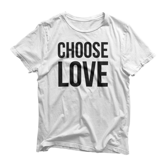 Choose Love Novelty T-Shirt - Gift - 80's Style Choose Life George Michael