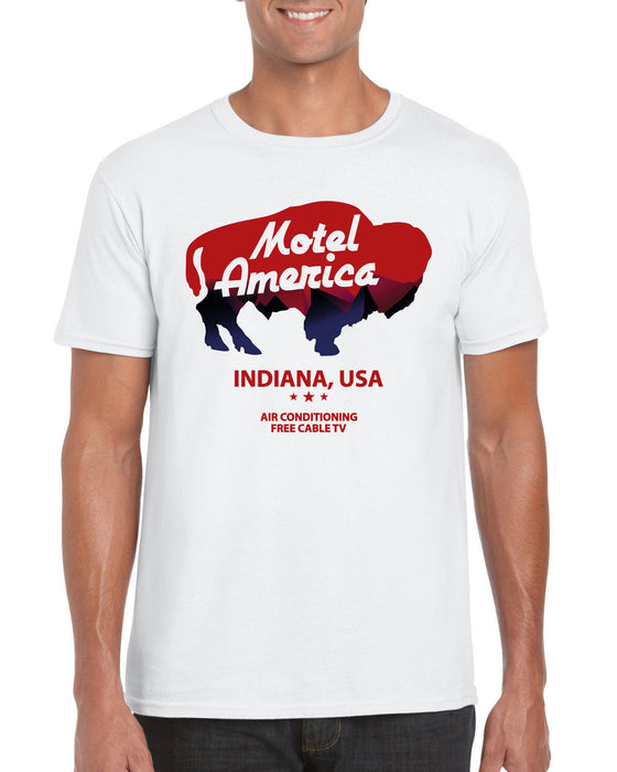 """ Motel America "" Shadow American Gods Cosplay Book TV Show Inspired T-Shirt"