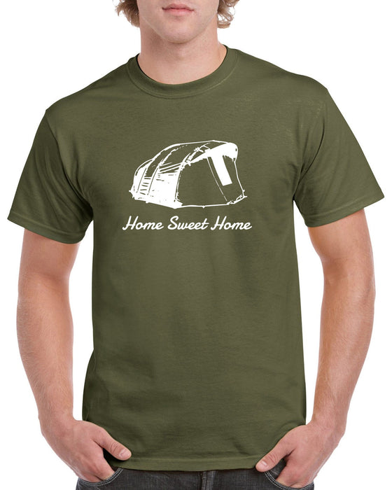 Home Sweet Home Bivvy Tent Fishing Angler Fisherman Funny Gift T Shirt S-2XL