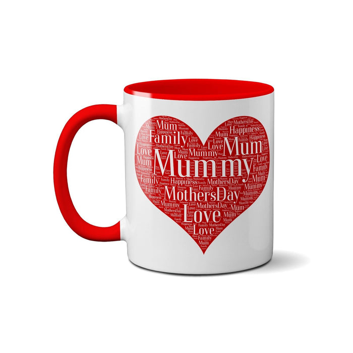 Word Art Mug - Personalised with your names & details - Perfect for Mothers day