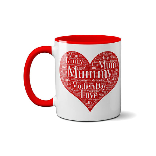 Word Art Mug - Personalised with your names and details - Perfect Mother's Day Gift